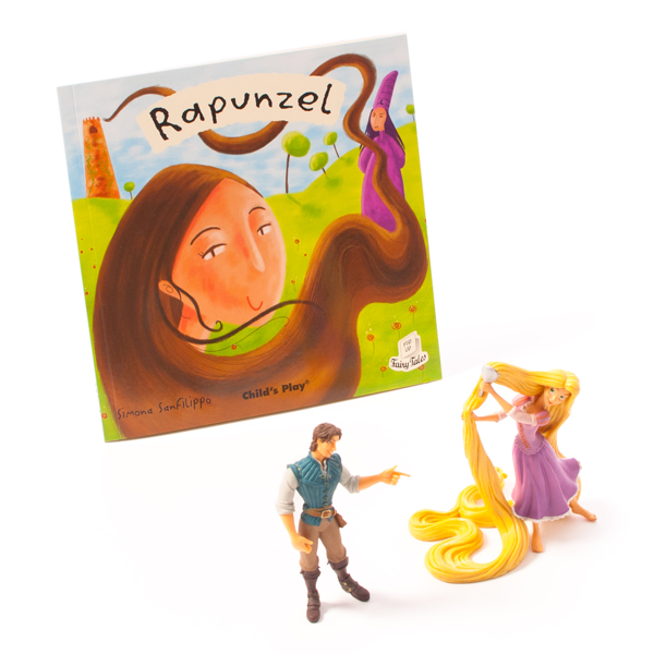 Rapunzel Characters & Book Set 1