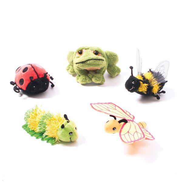 Spring Creatures Finger Puppet Set