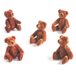 Set of Small Jointed Teddy Bears