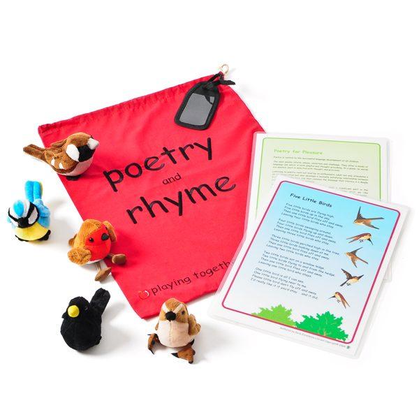 Poetry Bag Set - Five Little Birds