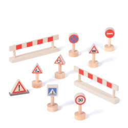 Set of Barriers & Signs