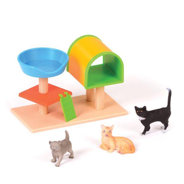 Set of Cats & Play Tree