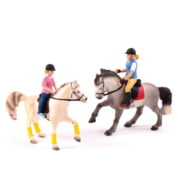 Set of Horses with Riders