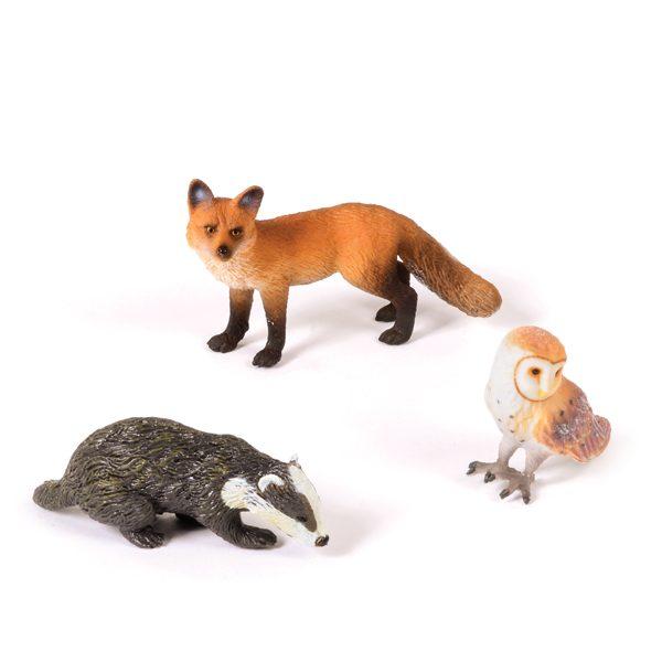 Fox, Badger & Owl Set