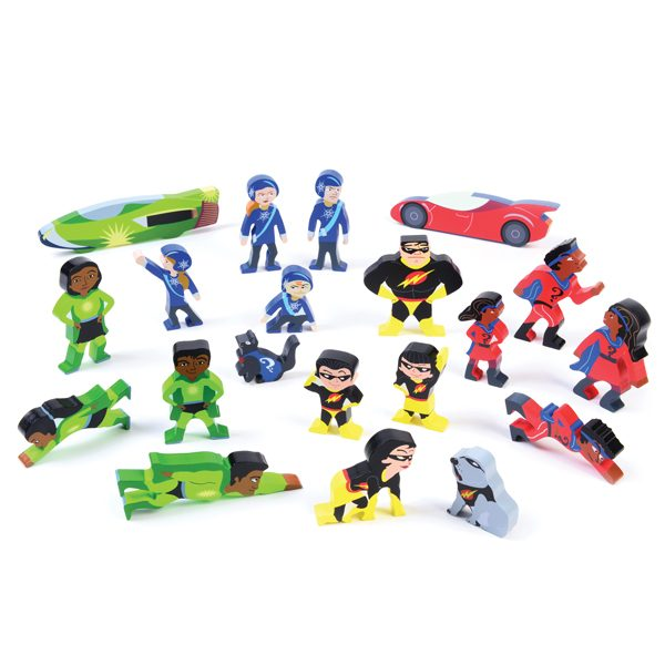 Wooden Superhero Set