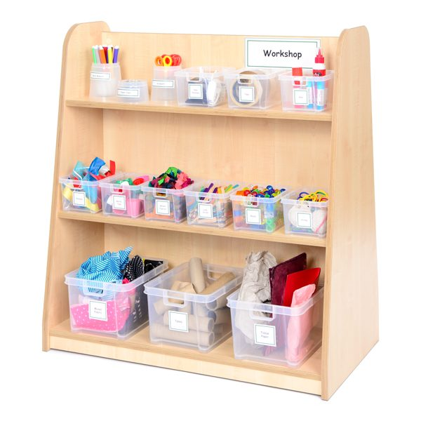 Complete workshop area for art and design to encourage creativity in children for artwork