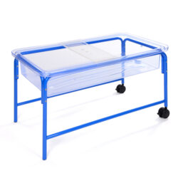 water tray with shelf ages 3 4 5 6 7 blue with wheels for water play outside