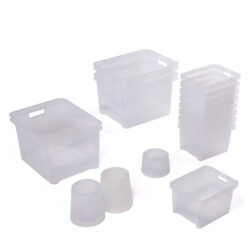 Design Technology Storage Collection 5-7yrs clear storage box see through transparent tidying organisers