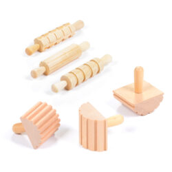 Set of 6 Six Dough Pattern Tools Rolling Pins