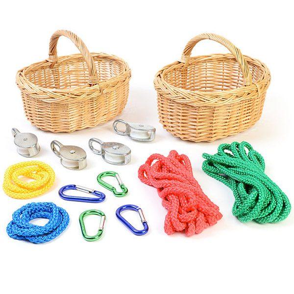 Set of Baskets & Pulleys