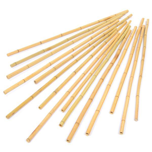 Set of 15 Natural Bamboo Den Poles