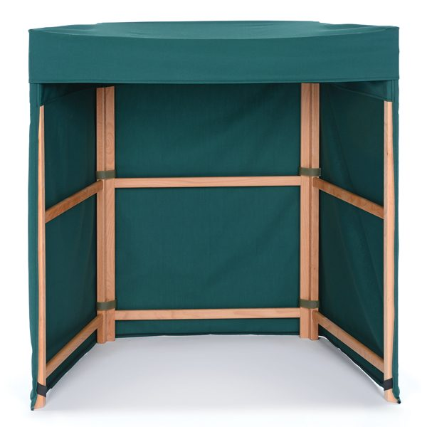 Den Frame with Green Fitted Cover
