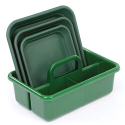 Green Carryall and Tray Set for outdoor investigations trug and observation trays organisation learning games for school