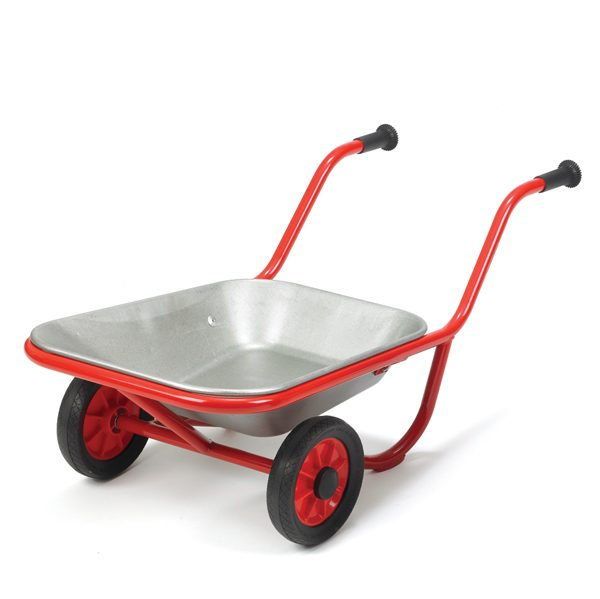 Wheel barrow red for childrens outdoor play