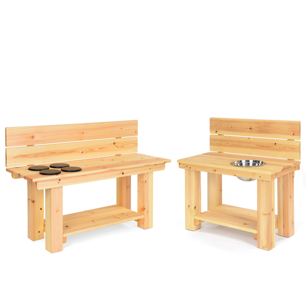 Set Of 2 Mud Kitchen Benches
