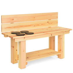 Mud Kitchen Bench with Hobs