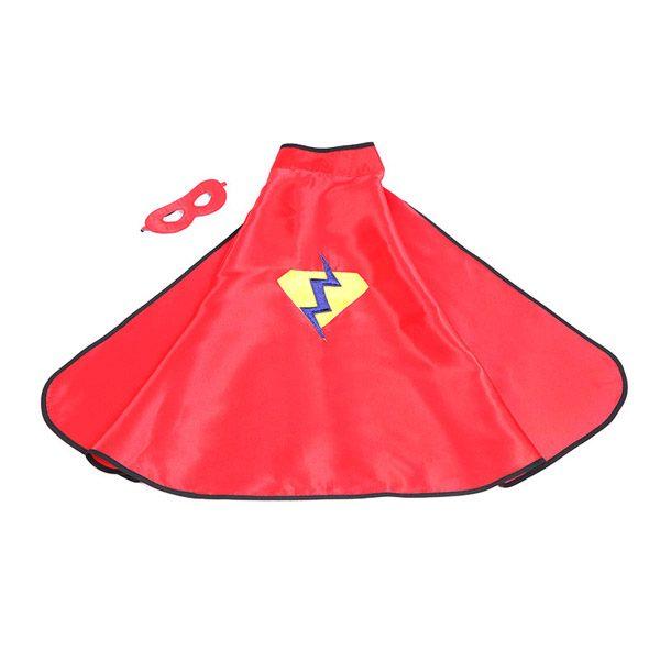 Red Superhero Cape & Mask