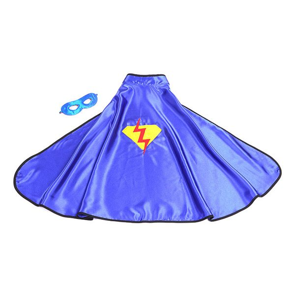 Blue Superhero Cape & Mask