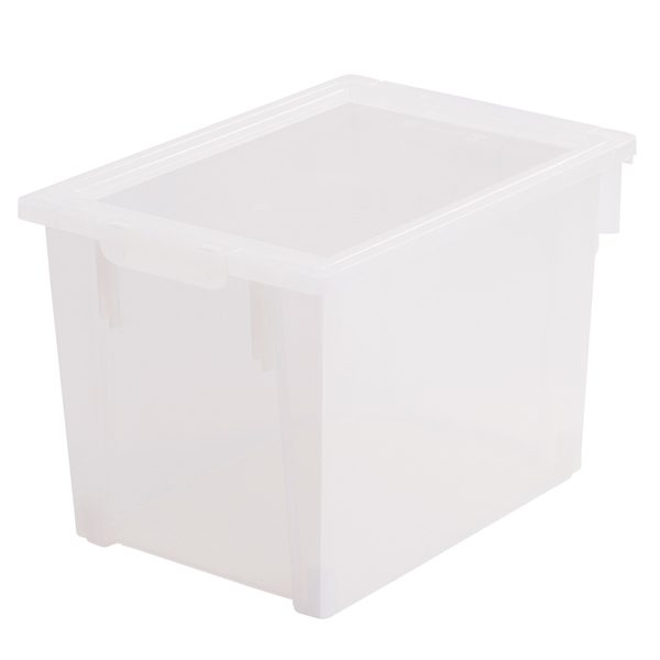 Large Transparent Box with Clip-on Lid for Storage and Organising