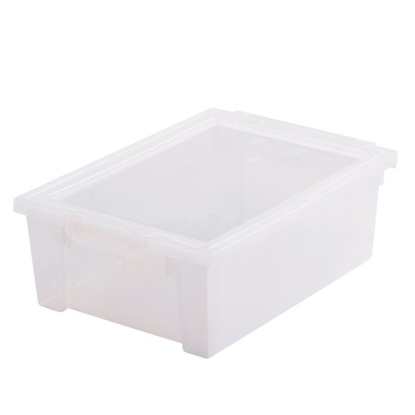 Medium Transparent Box with Clip-on Lid for Storage and Organising
