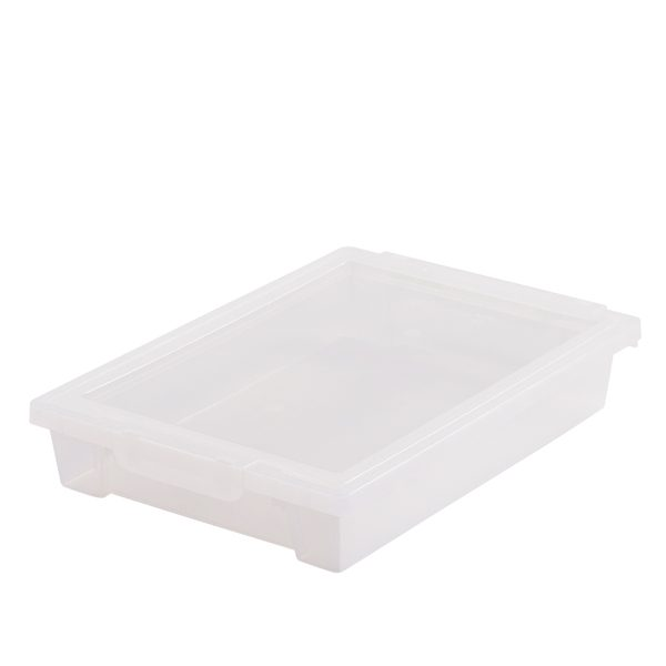 Small Transparent Box with Clip-on Lid for Storage and Organising Resources