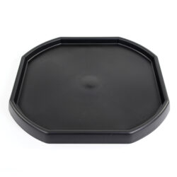 Large octagonal tray in black