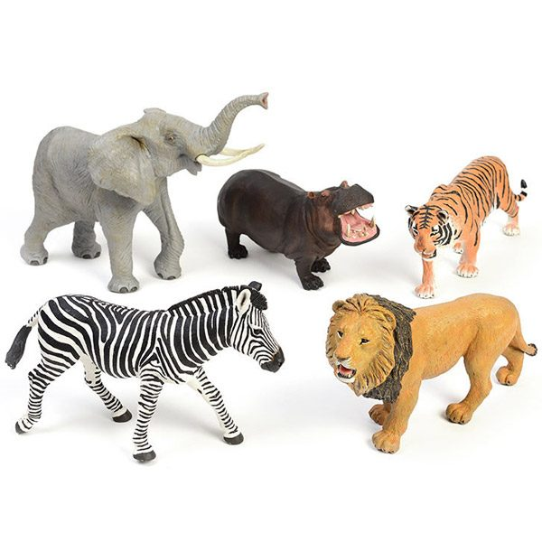 Large Wild Animals set for Small World play and Learning
