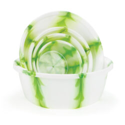 Set of Green Marble Bowls