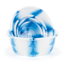 Set of Blue Marble Bowls