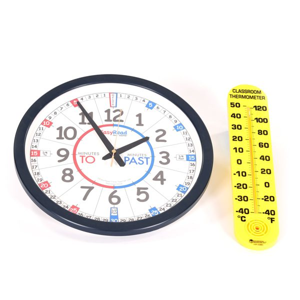 Clock & Thermometer Set