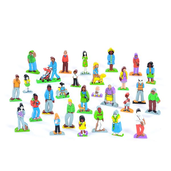 set of wooden families and friends