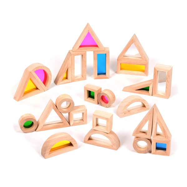 Set of Rainbow & Mirror Blocks