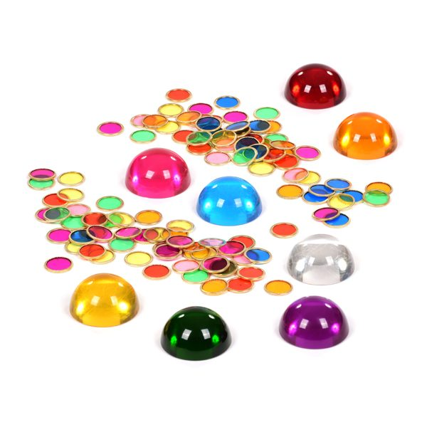 Set of Coloured Semispheres & Chips