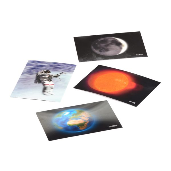 Set of 3D Space Postcards