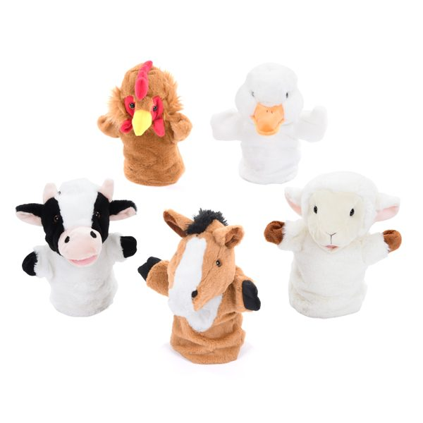 Farm Animal Hand Puppet Set