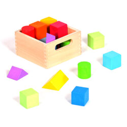 Box of Coloured Building Blocks