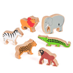 Set of Wooden Wild Animals