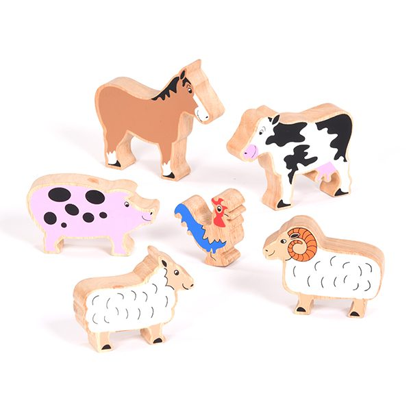 Set of Wooden Farm Animals