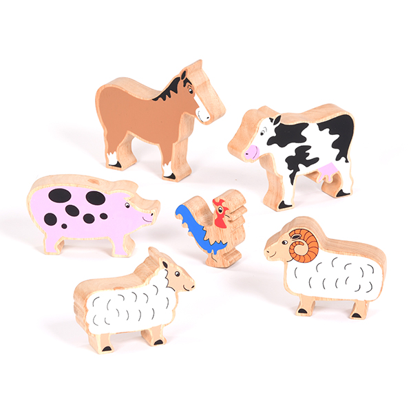 Set Of Wooden Farm Animals