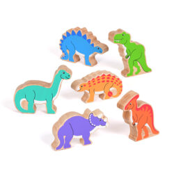 Set of Wooden Dinosaurs