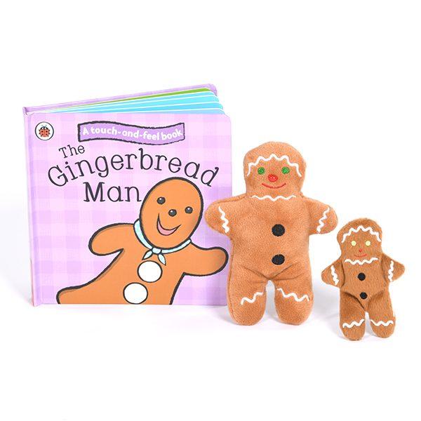 Gingerbread Man Book & Puppet Set