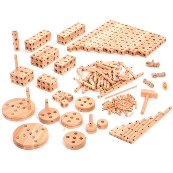 Wooden Construction Resource Set for small construction mechano wood building set
