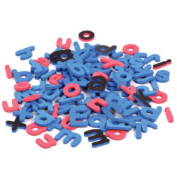 Set of Magnetic Letters (Lower Case, Coloured Vowels)