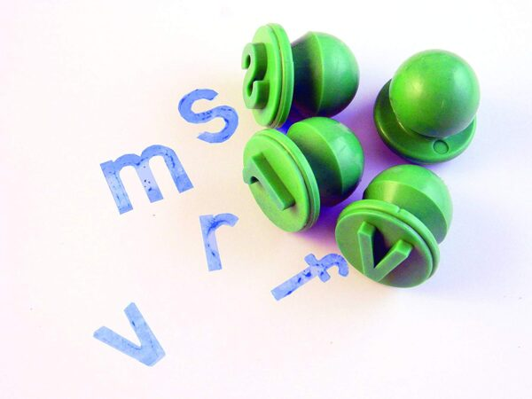 lower case letter stamps