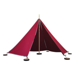 Large Tent for den building and camping outdoor learning red tipi yurt wooden