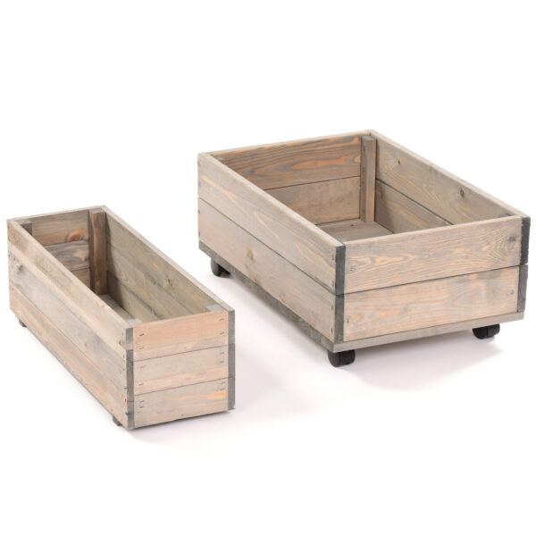 Set of Wooden Planters