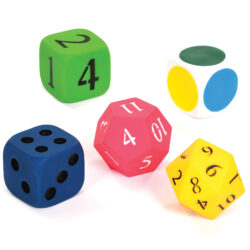 Set of Large Outdoor Dice for Maths