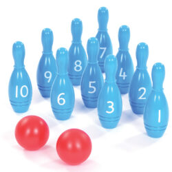 Set of Skittles for Outdoor Games 1-10 bowling pins