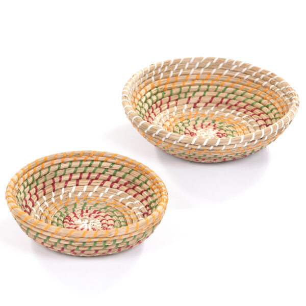 Set of Multi Stripe Baskets