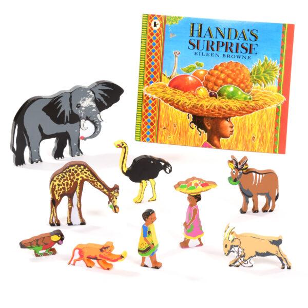 Handa's Surprise Book & Character Set